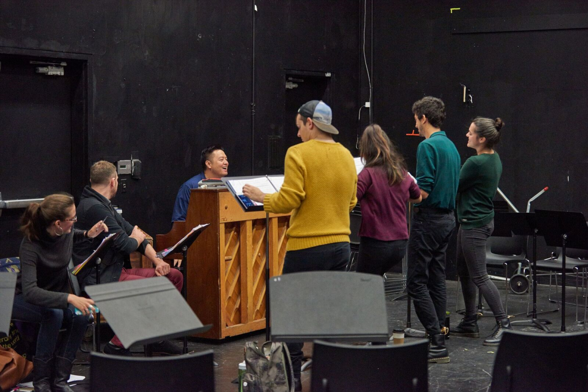 Cast in rehearsal (2018 Reading)